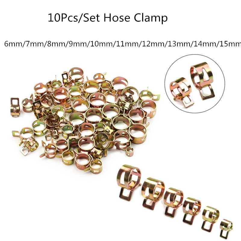 Fuel Line Hose Spring wire  Clips Water Pipe Air Tube Clamps 6mm 8mm //10mm