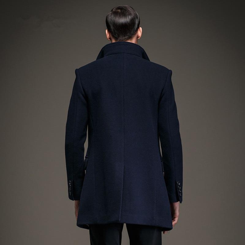 190ce66b4049d Moda hombres guisante capa chaqueta de lana y mezclas 2016 nuevos hombres  abrigo de invierno abrigo de lana hombres abrigo en De lana y Mezclas de La  ropa ...