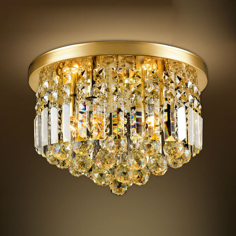 Crystal Ceiling light Fixture For Living Room Modern Ceiling Light Gold Ceiling Light Lighting Lamp luminaria home decoration