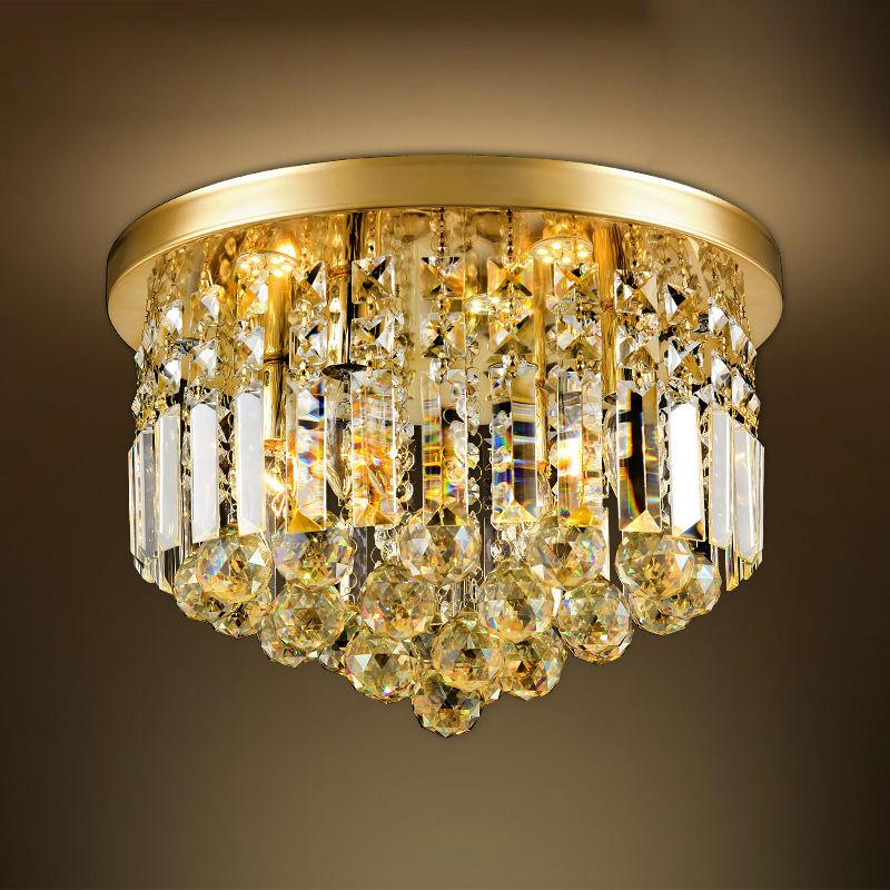 Kristall Deckenleuchte Fr Wohnzimmer Moderne Gold Beleuchtung Lampe Luminaria Home DekorationChina