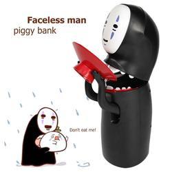 Hot Sale Spirited Away Kaonashi No-face Piggy Bank Toy Automatic Eaten Coin Bank Miyazaki Hayao Chihiro Design Christmas Present