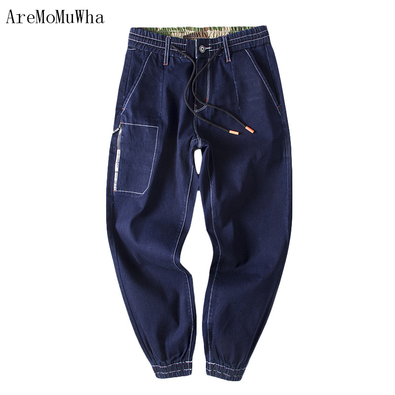 AreMoMuWha 2018 New Summe Style Everything Small feet jeans Pencil pants Ankle-Length pants Korean tide male Mens jeans QX027