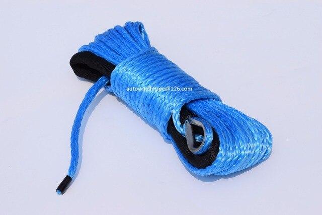 Cabrestante eléctrico azul de 6mm x 15 m, Cable de cabrestante Kevlar, cuerda de Plasma, cuerda de cabrestante sintético