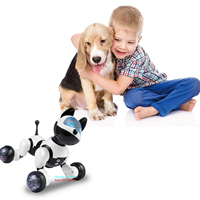 YANZCHILD Wireless Remote Control Robot Dog Smart Interactive Puppy Senses Gesture Sings Dances Cat For Boys Girls and Child