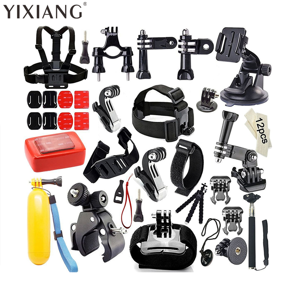 все цены на YIXIANG FOR Gopro set chest mount for gopro hero 4 3 Eken h9 r h8 r SJCAM SJ5000 camera tripod for gopro kit xiaomi yi онлайн