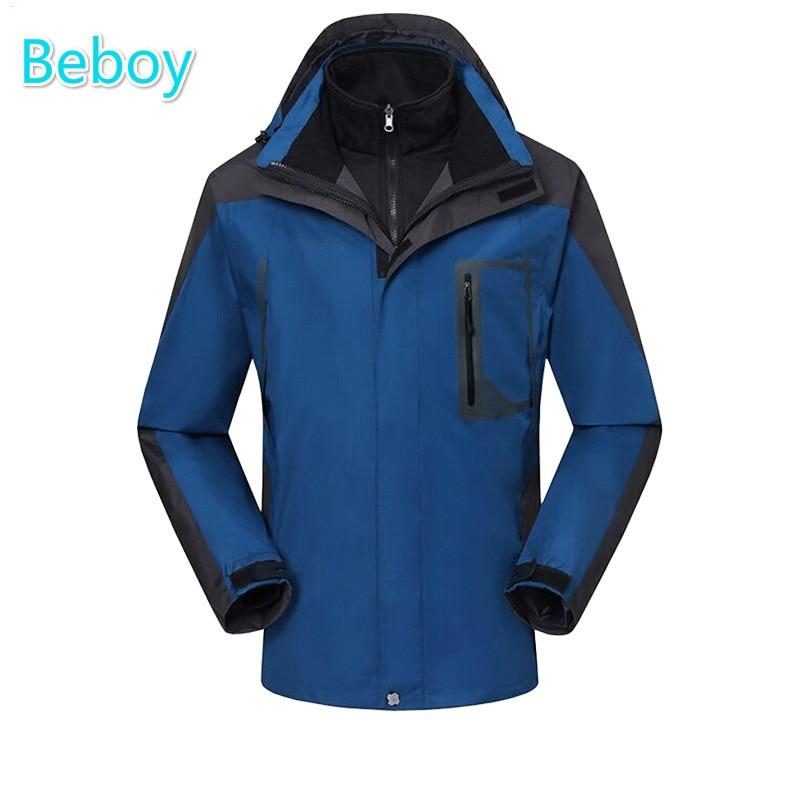 ФОТО Beboy Outdoor Winter Softshell Jacket Men Waterproof Hiking Fleece Jackets Windstopper Hooded Camping Ski Jacket Hunting Clothes