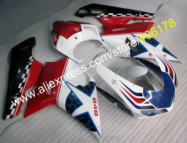 Hot Sales,Injection 1198 1098 848 Fairings For Ducati 1098 848 1198 2007 2011 ABS Star Motorcycle Fairings (Injection molding)