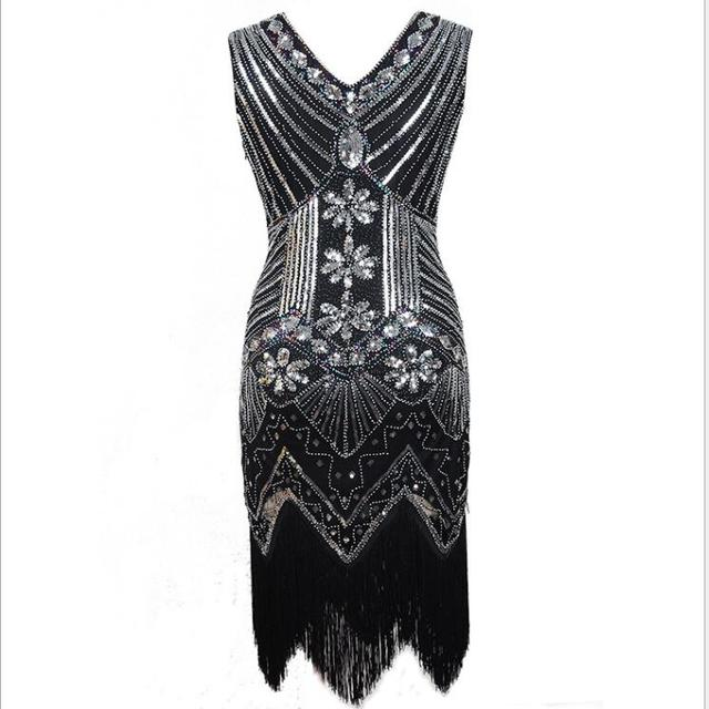 US $16.4 22% OFF|Women 1920s Flapper Dress Gatsby Vintage Plus Size Roaring  20s Costume Dresses Fringed for Party Prom S 2XL on AliExpress