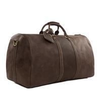 ROCKCOW Large Vintage Retro Look Genuine Leather Duffle Bag Weekend Bag Men's Handbag 12027