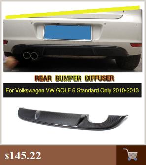 Стайлинга автомобилей углеродного волокна диффузор, губа на задний бампер для VW Golf MK6 Стандартный бампер 2010-2013