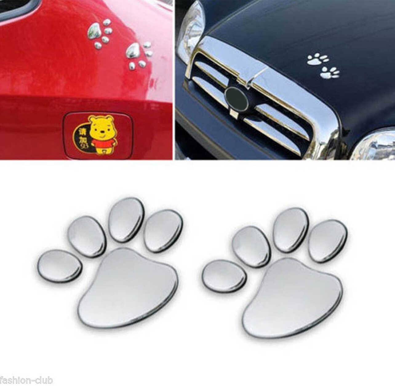 Patte Animal chien chat ours pied autocollant pour honda vfr 800 bmw m per formance citroën c4 vw touran golf mk2 mini cooper r53