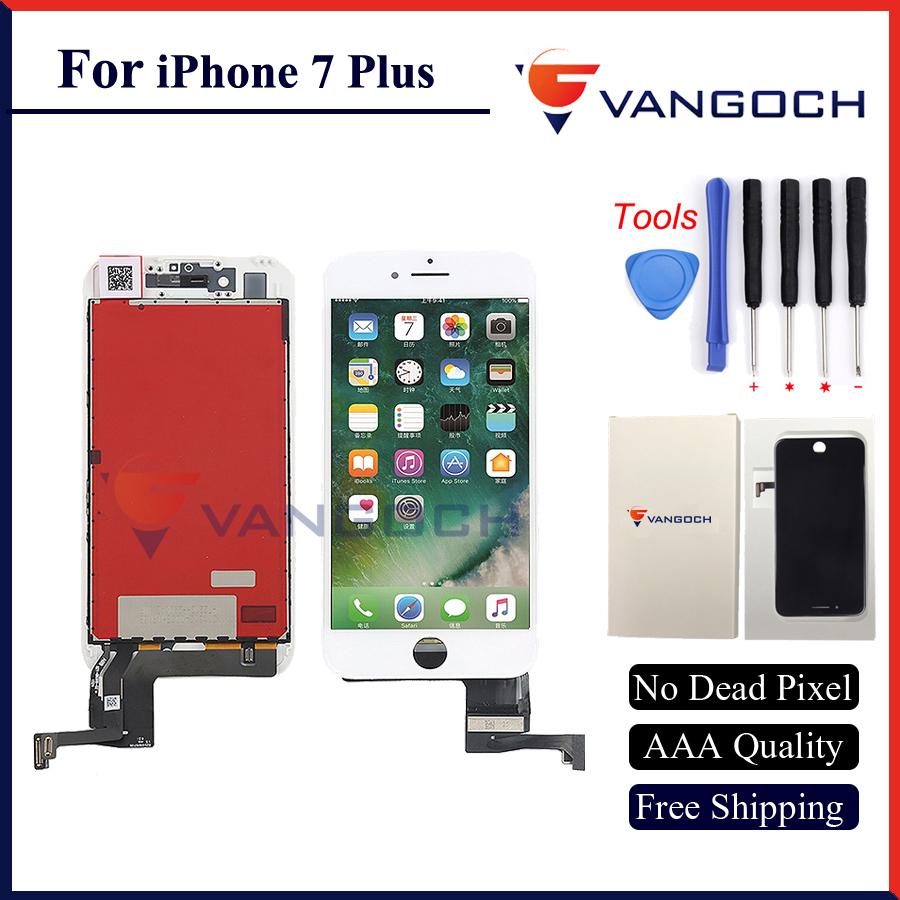 Prix pour 1 pcs aaa qualité pas de dead pixel affichage pour iphone 7 & 7 plus écran lcd de remplacement avec 3d tactile assemblée livraison gratuite