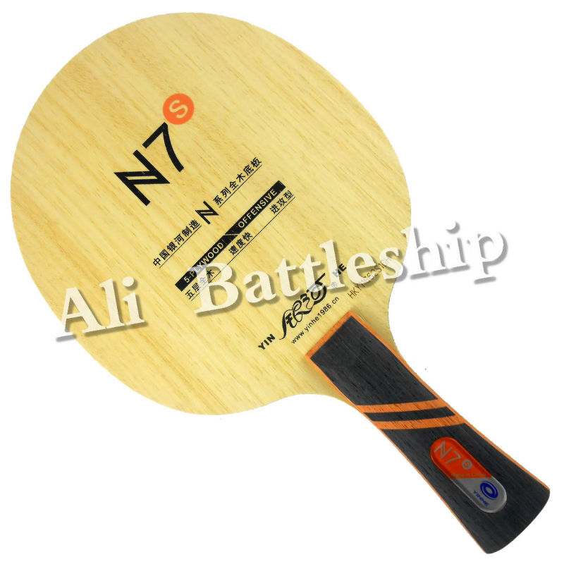 Original Galaxy YINHE N7s N 7s OFFENSIVE N-7 Upgrade Table Tennis Blade Shakehand Long Handle FL For Table Tennis Bat Racket Pad