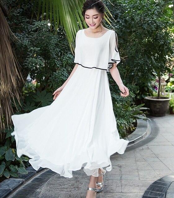 0f669bb39ac Плюс Большие размеры женские платье 2018 Летний стиль Корейский Чешский без  бретелек воланами Пляж вечернее белое