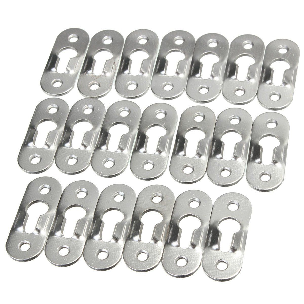 20 Pcs 44mm Metal Keyhole Hanger Fasteners Picture Hanger For Photo Painting   Picture Fasteners For Frame Furnniture Cabinet20 Pcs 44mm Metal Keyhole Hanger Fasteners Picture Hanger For Photo Painting   Picture Fasteners For Frame Furnniture Cabinet