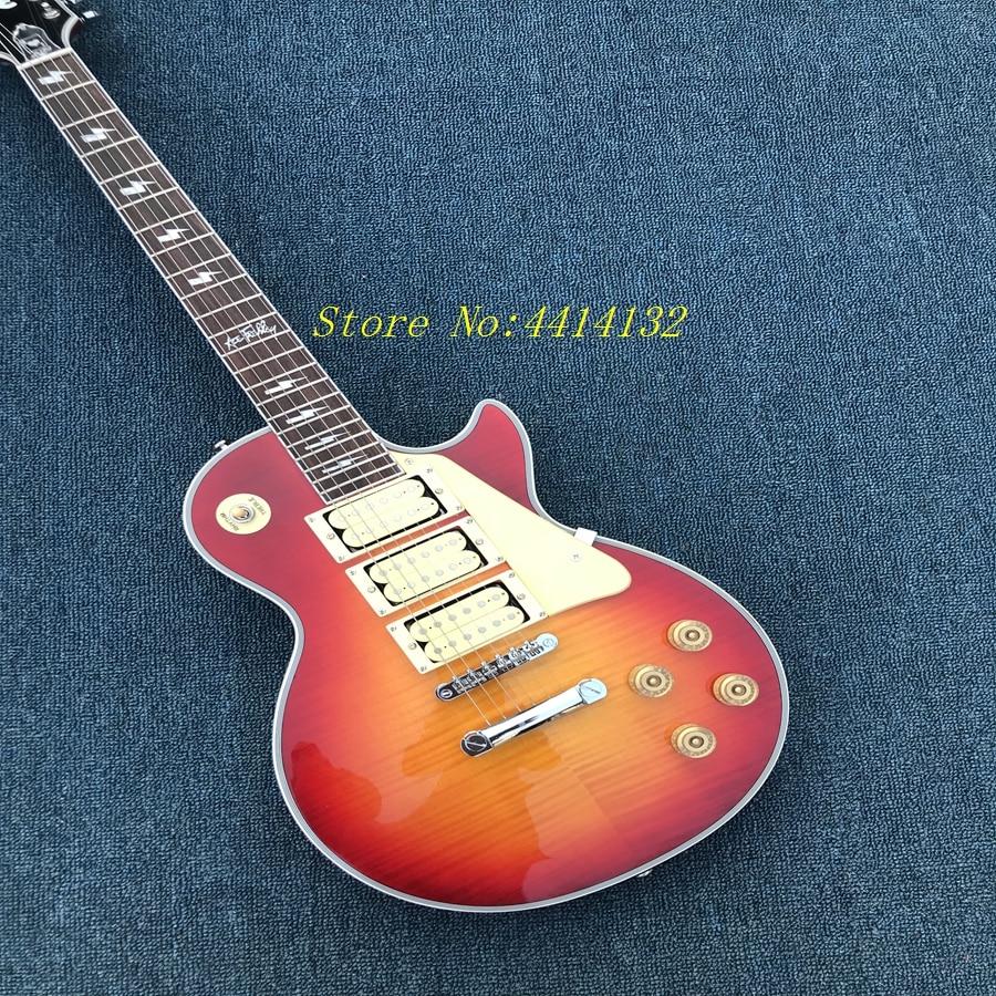 2018 style Ace frehley signature guitare, custom shop plus haute qualité Ace frehley 3 micros Guitare Électrique, Livraison gratuite