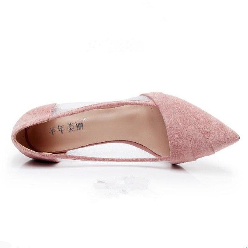 Sexy Talons Été pink Maillage De Petit Couture Hauts Pointu Nouveau Taille À Haute Ayakkab chaussures Respirant Femmes Sandales Black Up6p0wxSq