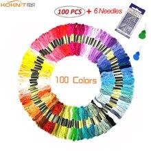 KOKNIT Embroidery Floss 100 Skeins Rainbow Colors Thread Cross Stitch