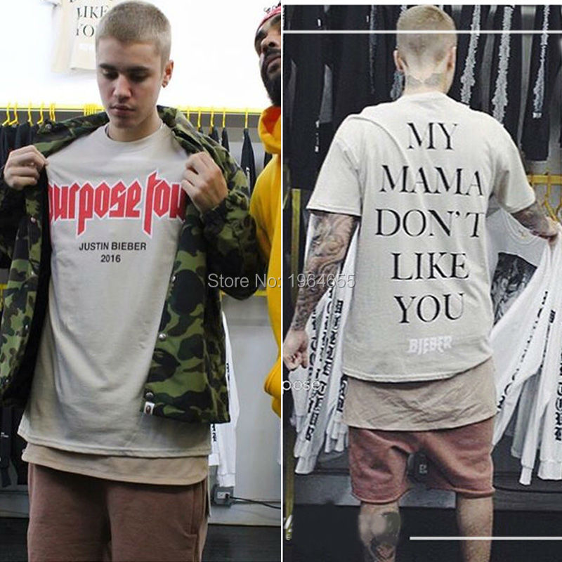 2017 summer tops justin bieber fear of god Purpose Tour MY ...