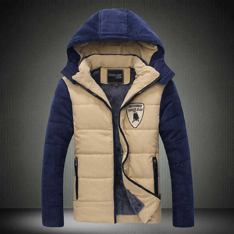 T china cheap wholesale 2017 autumn winter hot sale new men fashion casual slim Thickened Hooded Keep warm cotton-padded jacket