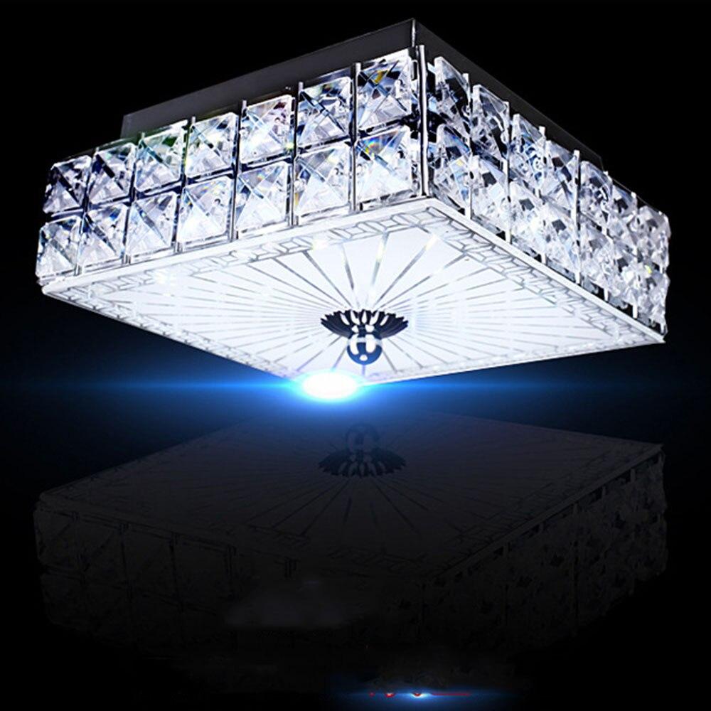 Ceiling Lighting Led Ceiling Lights Kitchen 110 220v Flush: Ceiling Light LED Flush Mount Crystal Ceiling Light 110