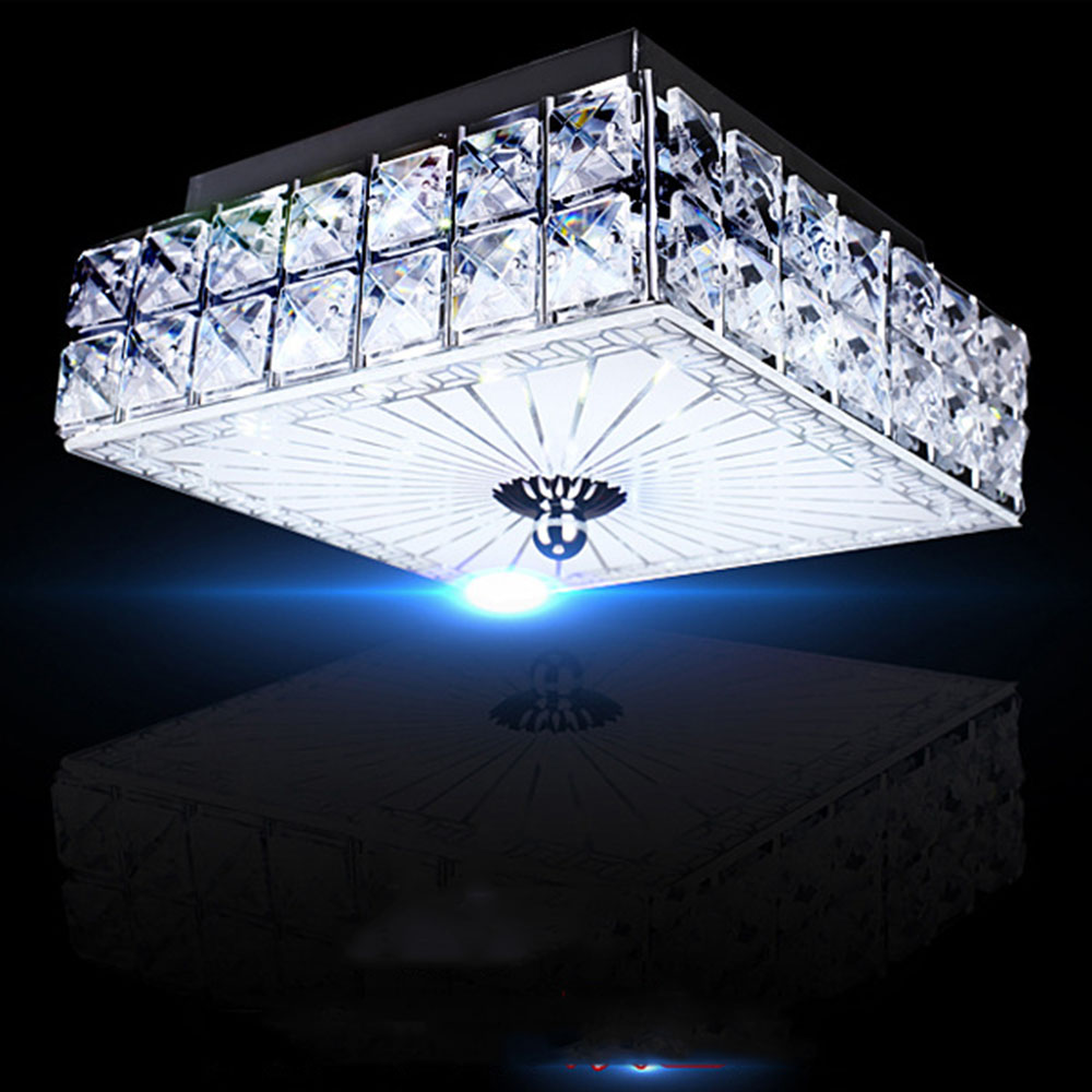 Ceiling Light LED Flush Mount Crystal Ceiling Light 110-220v Kitchen Lighting Home Lighting Crystal Luminaria Crystal Lamp
