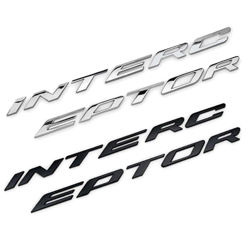 Police Interceptor Logo Car refit Emblem Decals Badge Sticker For Kuga Edge Explorer Mustang ranger fusion
