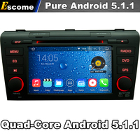 4 Cores Quad Core Pure Android 5 1 Car DVD Player For Mazda 3 2004 2005