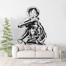 Monkey D. Luffy Anime One Piece Wall Sticker Art Deco, Sea Fan Bedroom Decorate Sticker, Home Living Room Decor  HZW01