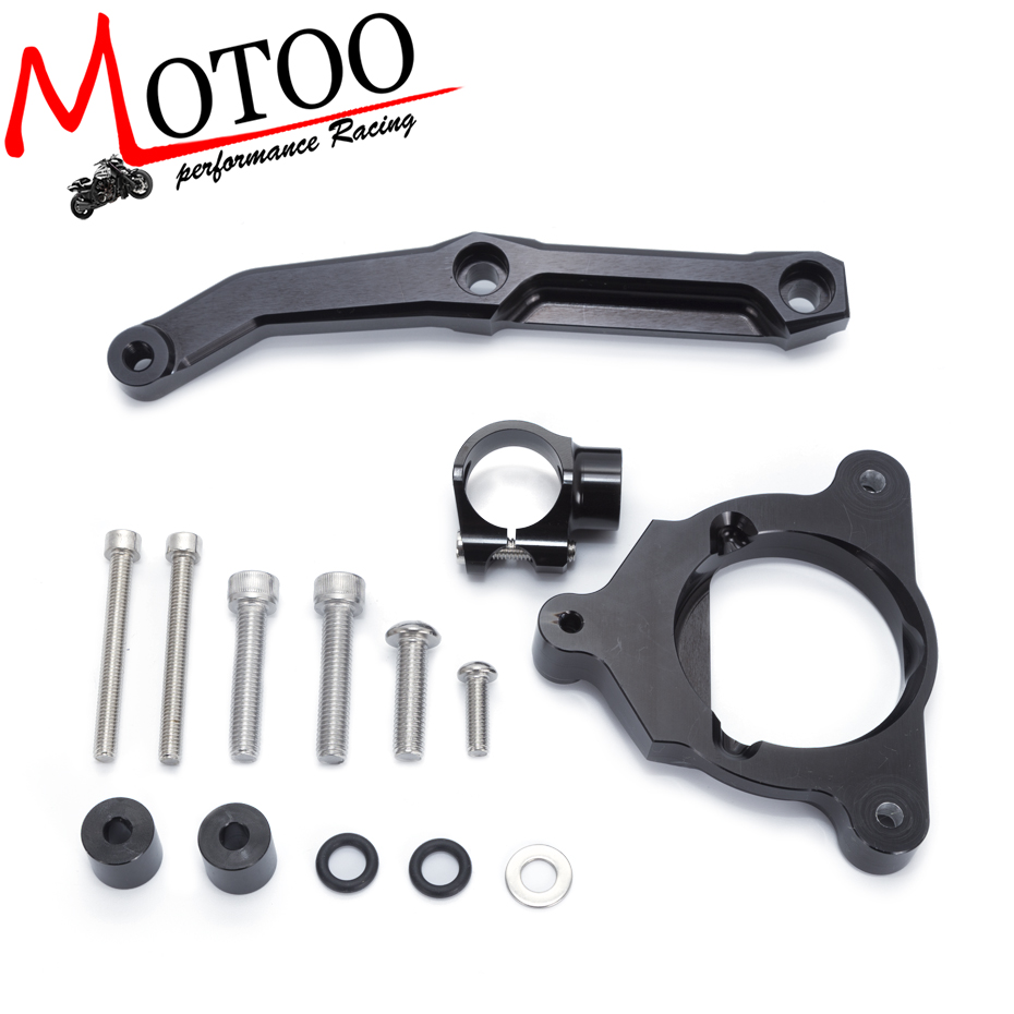 Motoo - For Kawasaki Z800 Z 800 2013 2014 2015 2016 Motorcycles Adjustable Steering Stabilize Damper Bracket Mount Support Kit