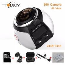 360 Камеры Wifi Мини 360 Действий Камеры 2448*2448 Ultra HD Панорама Камеры 360 Градусов 220*360 Спорт вождение VR Камеры