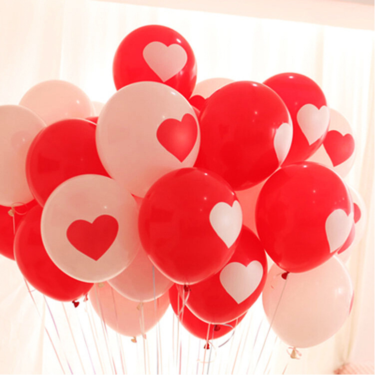 10Pcs Lot 12 inch Durable I LOVE YOU Heart Pearl Latex Balloons Globos ballons For Christmas Wedding Valentines Decorations in Ballons Accessories from Home Garden