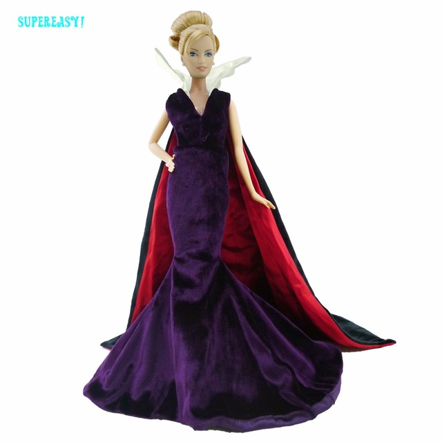 Limited edition Princess Dress The witch Gown Clothes For Barbie ...