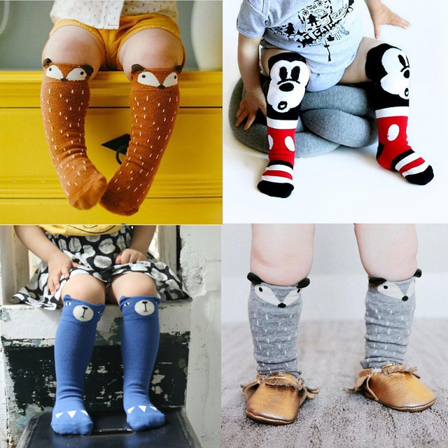 2af0bfa31 Aliexpress.com   Buy 1 Pair Lovely Cute Cartoon Fox Baby Socks Knee High  Girls Boys Toddler Socks Long Tube Animal Infant Soft Cotton Socks Kids 0  3Y from ...
