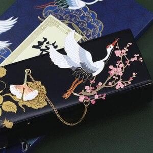 Image 2 - אדום מנוף ופרח מתכת אמנות קלאסי בסגנון סיני מתנת סימנייה אסתטיקה יצירתי מתנת סימניות אריזת מתנה אריזה
