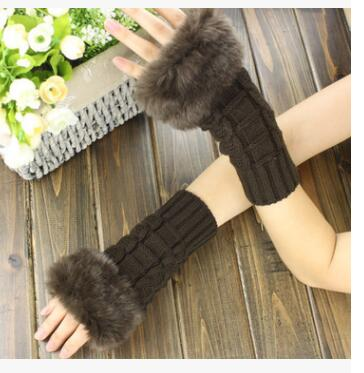 Hand Arm Warmer Knitted Mitts 20cm Long Female Gloves Mittens 8 Colors 10pcs/lot Wholesales