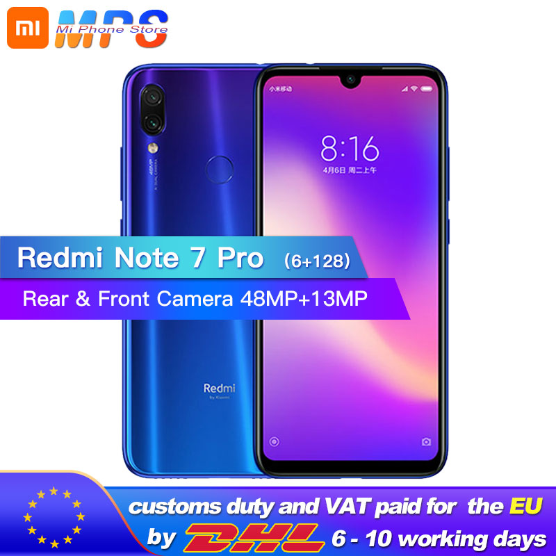 New Xiaomi Redmi Note 7 Pro 6GB RAM 128GB ROM Mobilephone Snapdragon 675 Octa Core 4000mAh