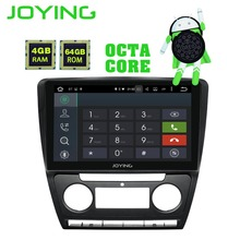 JOYING Android 8.1 samochodowe GPS odtwarzacz multimedialny dla SKODA Octavia 2 2008-2013 A5 10.1 ''ekran dotykowy IPS samochodu nawigacji Radio Audio