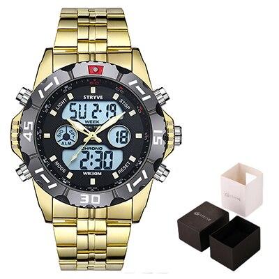 Stryve-8011-Relojes-Brand-Waterproof-Military-Sport-Watches-Men-Stainless-Steel-Digital-Quartz-Dual-Display-Reloj