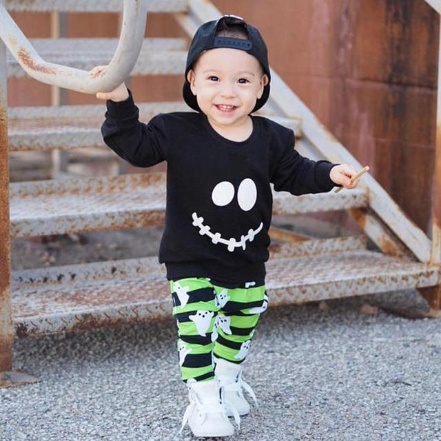 fad982937 Stylish Toddler Baby Boys Girls Clothes Cartoon Ghost Tops Pullover ...