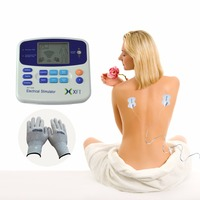 XFT 320 Electrical Stimulator With Acupuncture Pen Tens Digital Electronic Pulse Body Massager With One Pair Conductive Glove