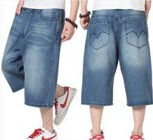 Размер 30-42 (хип 140 см) 2014 летние стили классический вышитые свободные тонкие, удобный плюс размер джинсы для мужчин
