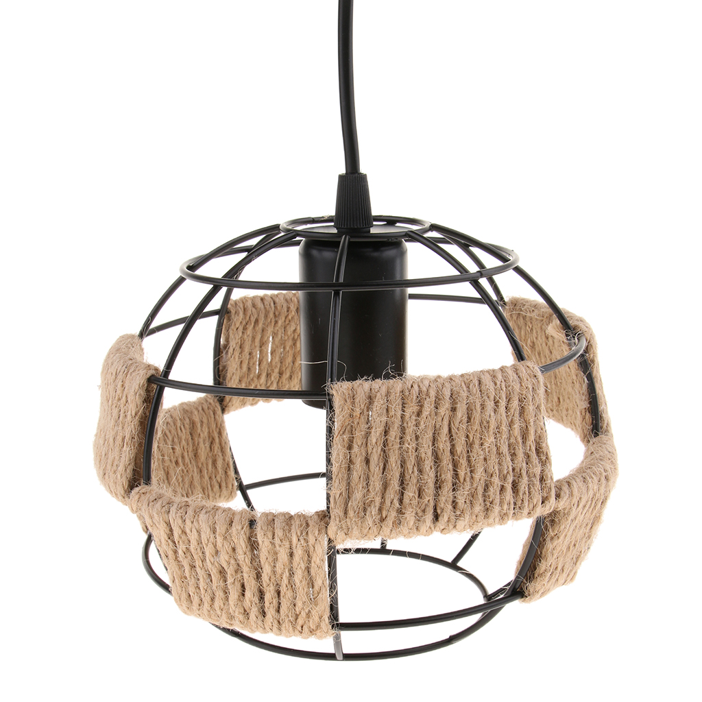 Vintage Industrial Style Iron Wire Cage Ceiling Pendant Light Lamp Shade