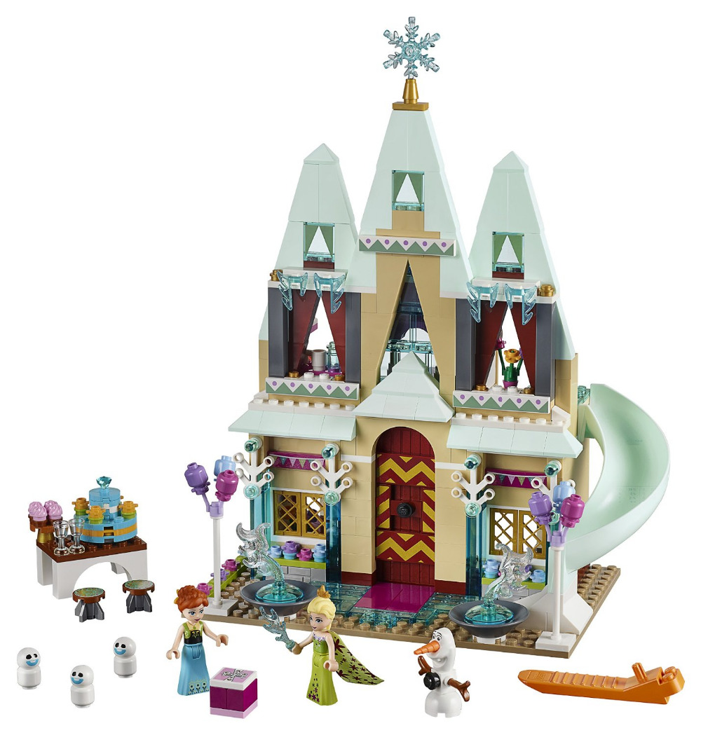 JG303 Princess Arendelle Castle Celebration Building Blocks For Girl Friends Kids Model Toys  Marvel Compatible Legoe 472pcs set banbao princess series castle building blocks girl friends favorite scene simulation educational assemble toys