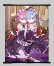 Anime Re Life in a different world from zero Rem wall scroll poster 40x60cm