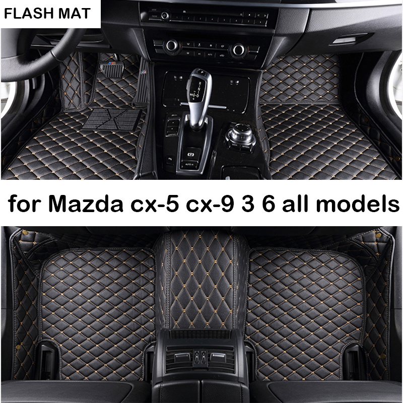 car floor mats for mazda all models mazda cx-5 2018 cx-7 cx-9 mazda 3 6 2003-2006-2016 atenza auto accessories car mats super cool car sticker for mazda 3 mazda 6 mazda 323 whole body free shipping