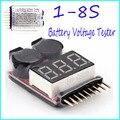 Para 1-8 S Lipo/Li-ion/Fe Tensão Da Bateria 2EM1 Tester Baixa Tensão Campainha de Alarme New Hot!