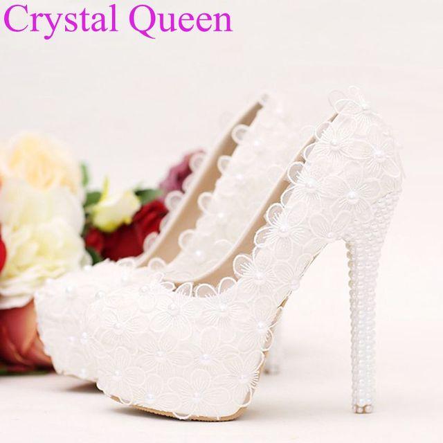 Sweet elegant heels pumps for women white lace pearls heels white sweet elegant heels pumps for women white lace pearls heels white lace flowers pumps thin heels mightylinksfo