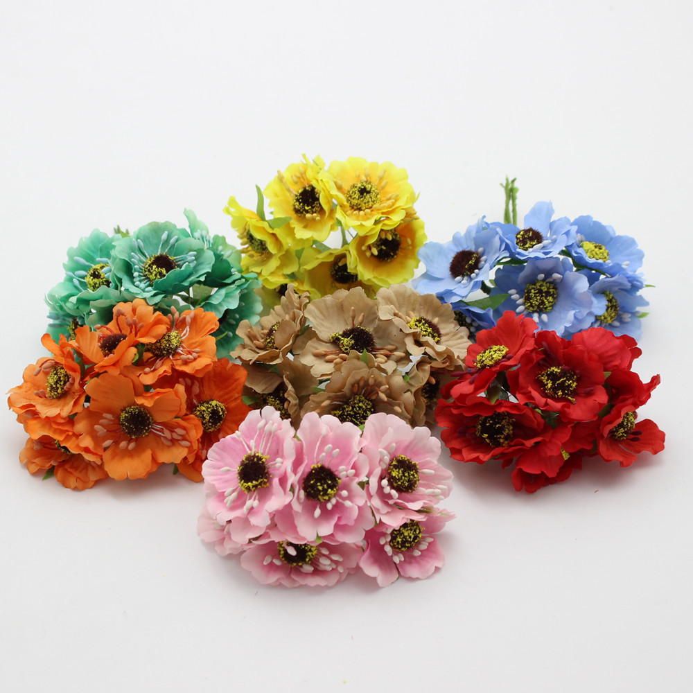 High Quality Silk Poppies Camellia 5cm 60pcslot Artificial Flowers