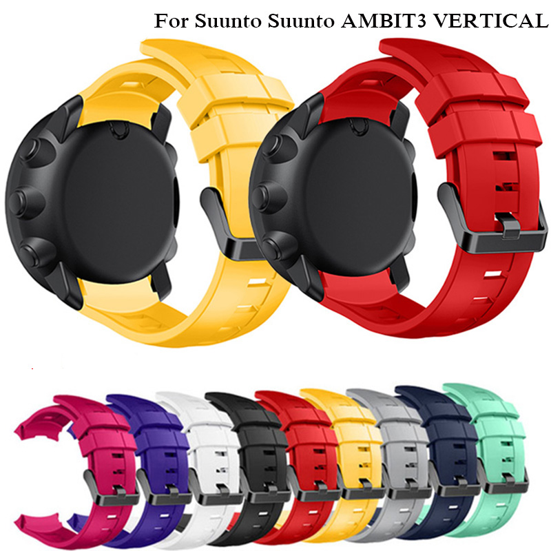 24mm Sports Silicone Watch Strap for Suunto AMBIT3 VERTICAL GPS smartwatch Wristband Replacement Straps with Tools Bracelet24mm Sports Silicone Watch Strap for Suunto AMBIT3 VERTICAL GPS smartwatch Wristband Replacement Straps with Tools Bracelet